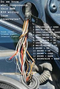 E39 Electrical Problems Traced To Trunk Lid Harness Wire Chafing  Diy Diagnostic