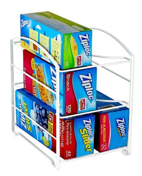 Kitchen Wrap Organizer Rack Shelf Store Bigger Paper Roll