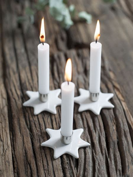 mini star candle holders set
