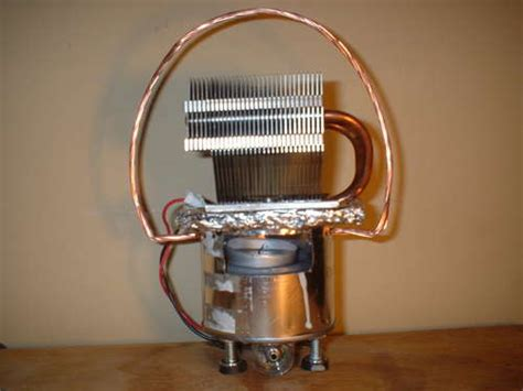 thermal energy diy     thermoelectric led lamp