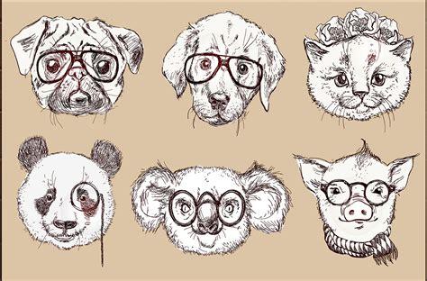 Hipster animals - set 2 ~ Illustrations on Creative Market