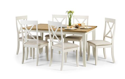 white dining chairs set of 6 davenport white oak dining set with 6 chairs homezone
