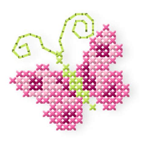 der stickbaer butterfly roses embroidery  heart