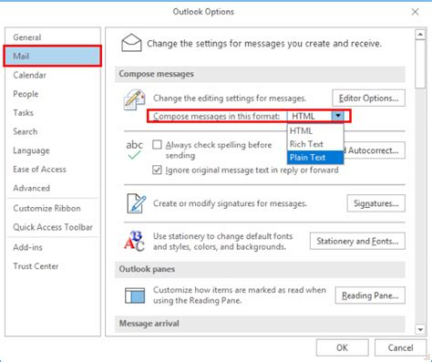 Office 365 Outlook Unable To Send Email by Outlook Change View To Html Or Plain Text