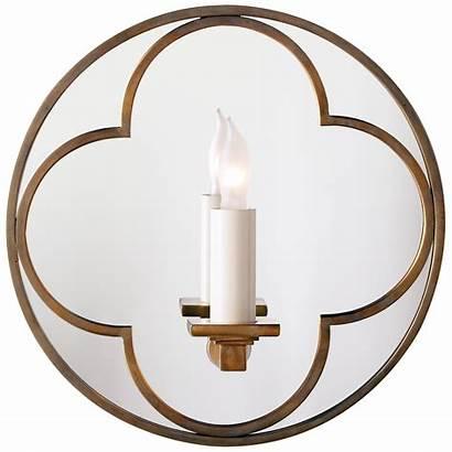 Sconce Quatrefoil Round Mirrored Comfort Visual Circalighting