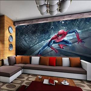 Spiderman Kids Bedroom Wallpaper Roll Large Size Photo ...