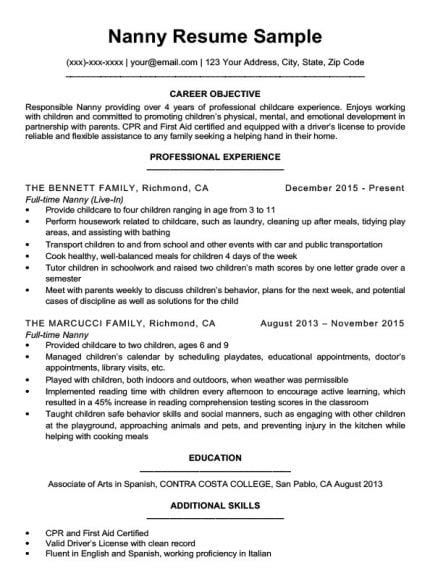 Resume Objective For Stay At Home by Stay At Home Resume Sle Writing Tips Resume