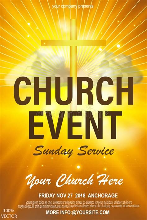 christian invitation poster template religious flyer card