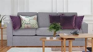 coussin carre deco 40x40 velours uni violet chic et design With tapis design avec dimension coussin canapé