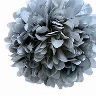 Quasimoon EZ-Fluff 8' Silver Tissue Paper Pom …