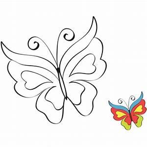 Dessin Facile Papillon : coloriage imprimer cap sur le coloriage papillon ~ Melissatoandfro.com Idées de Décoration