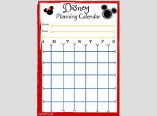 Disney World Printable Calendar Planner Calendar