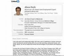 LinkedIn Profile Example Photo Credit Image Copyright Alison Doyle Gallery Personal Profile Resume Samples Sample Resume Resume Example How To Write A Professional Profile Resume Genius Executive Resume Professional Resume Samples Sample Resume For