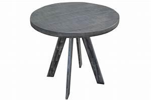 Esstisch Rund Grau : massiver esstisch iron craft 80cm rund grau mangoholz geflexte beine riess ~ Eleganceandgraceweddings.com Haus und Dekorationen