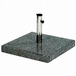 Pied De Parasol Gifi : pied de parasol en granit carre 40 kg achat vente ~ Dailycaller-alerts.com Idées de Décoration