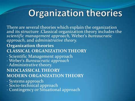 organization theories