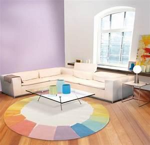 osez le tapis rond pour un interieur tres a la mode With tapis couleur pastel