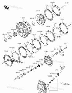 Kawasaki Motorcycle 2019 Oem Parts Diagram For Clutch