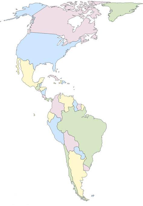 Me gustan las Sociales: América. Mapa político.