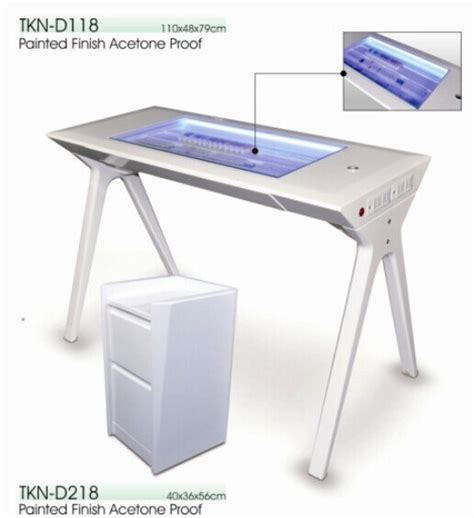 nail desk for sale china sale manicure table with led light ktn d118