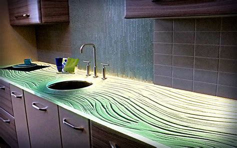 set yourself apart with a truly stunning glass countertops