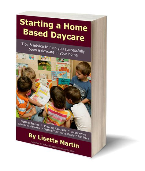 starting a home based daycare tips for opening your in 792 | 3D Book daycare image