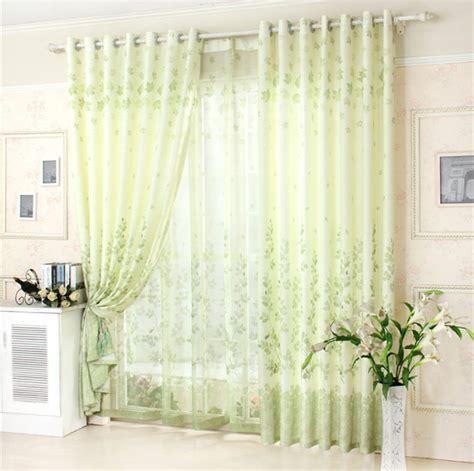 Light Green Drapes - pastorale rattan light green bedroom curtain fresh