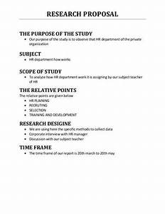 Apa Research Proposal Format Example Thesis Statement Examples