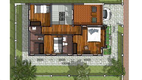 sketchup speed build home plan  meter  bedrooms