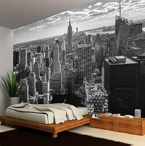 Poster Mural Grand Format : chambre style new york id es th me londres et voyages ~ Carolinahurricanesstore.com Idées de Décoration