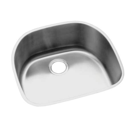 elkay undermount kitchen sink elkay lustertone undermount stainless steel 24 in rounded 7051