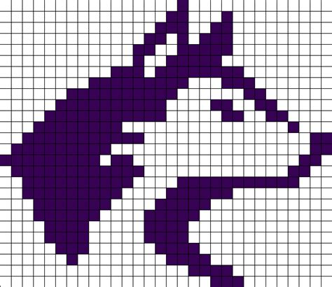 Kawaii Fox Pixel Art Grid