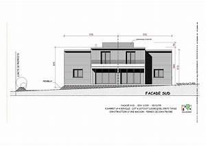 les plans presentes au permis de construire maison With plan de maison facade