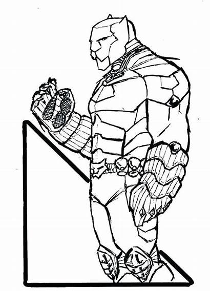 Panther Coloring Pages Marvel Printable Drawing Falcon