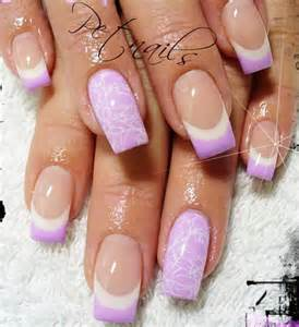 Nail designs white lilac french tips nails ? favnails art