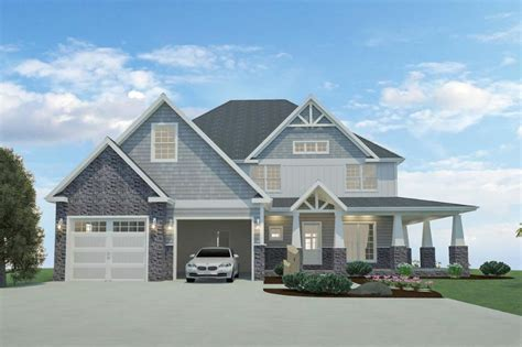 Plan 77641FB: 4 or 5 Bedroom Home Plan with Wraparound