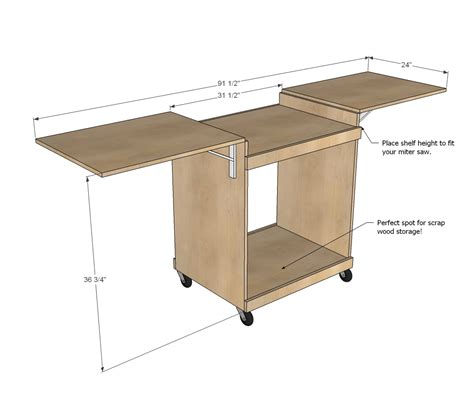 make a table saw table pdf diy woodworking projects miter saw download