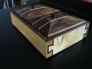 Made Com : hand crafted double dovetail precious herb box hard maple black walnut gabon ebony by fiabilite ~ Orissabook.com Haus und Dekorationen