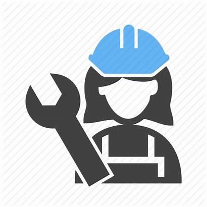 Mechanic Icon Female Lady Technician Service Trades