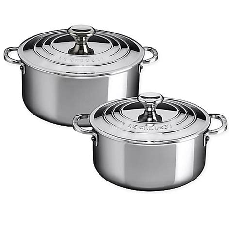 Le Creuset® Stainless Steel Shallow Casserole With Lid  Bed Bath & Beyond