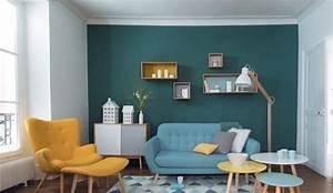 tendance deco couleur chambre cuisine salon vintage With couleur tendance deco salon 6 deco bureau moderne