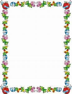 School Clip Art Line Border | frames backgrounds and ...