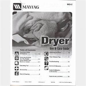 Free Download Maytag Ensignia Dryer Service Manual Programs