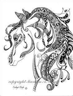 Horse zentangle I created for my father-in-law for