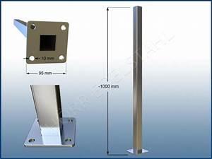 Vierkantrohr Edelstahl 40x40 : gel nder pfosten vierkantrohr rohr boden edelstahl oben offen v2a 40x40 ~ Eleganceandgraceweddings.com Haus und Dekorationen
