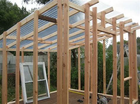 Cheap Shed Roof Ideas by How To Build A Shed Roof Greenhouse Ideas