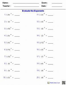 maths worksheets for high school on exponents - Google ...
