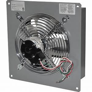 Canarm Wall Exhaust Fan  U2014 8in   2 20 Hp  360 Cfm
