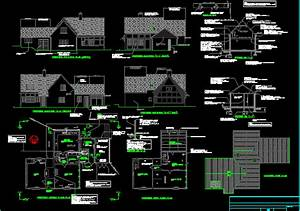Cottage Plan DWG Plan for AutoCAD • Designs CAD