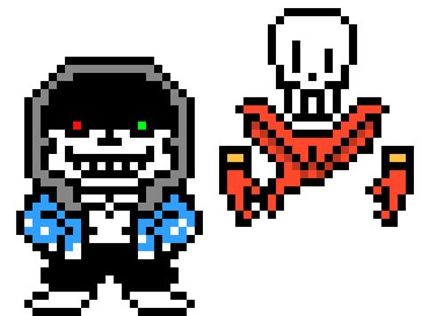 Sans And Papyrus Pixel Art Game Pictures To Pin On